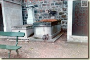 Katze auf dem Pariser Nordfriedhof – auch Cimetière de Montmartre genannt