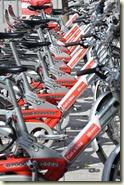 Fahrräder in der Call-A-Bike Station