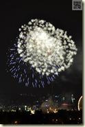 Feuerwerk zum Volksfest-Abschluss