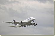 A380 auf dem Weiterflug nach Baden-Baden