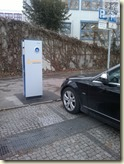neues Elektroauto oder Falschparker?