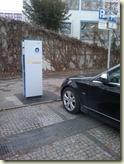 neues Elektroauto oder Falschparker?