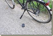 Fahrrad mit einem Pedal
