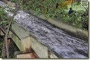 der Wasserlauf für Sägewerk