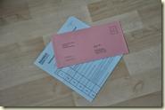 Stimmzettel und Wahlumschlag