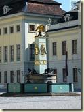 der Brunnen im Schloßhof des Ludwigsburger Residenzschlosses