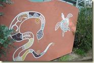 Wandkunst der Aborigines