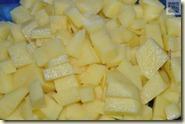 kleine Kartoffelstücke