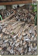 das Holz für den Backofen