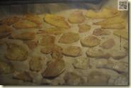 die Kartoffeln bruzzeln im Ofen