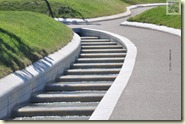 Wasserlauf im neuen Teil des Höhenparks