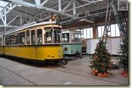 im weihnachtlichen Straßenbahnmuseum