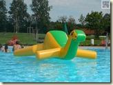 Dino im Schwimmbecken