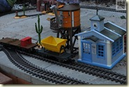 die erste Fahrt auf der neuen Gartenbahn-Strecke