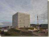Blick auf das neue Gebäude