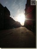 ein seltener Moment: Sonnenschein
