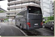 der Reisebus für die Teststrecke