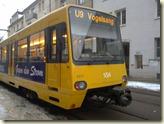 die U9 wendet in der Landhausstraße - 17.02.2010