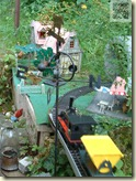 die Gartenbahn unterwegs