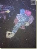 Straßenkunst aus Kreidefarben