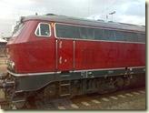kein historisches Bild, sondern am 07.11.2008 in Dortmund - Baureihe 218 in alter Farbe