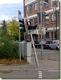 angefahrene Fußgängerampel