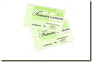 die Fahrkarten