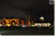 Schlossplatz mit Charlottenbau und Kunstgebäude