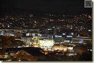 Blick von der Uhlandshöhe zum Schlossplatz