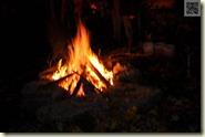 das Lagerfeuer im Garten