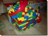 LEGO-Burg mit Kugelbahn