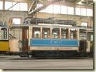 historischer Straßenbahn-Wagen 222