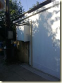fertige Rückwand mit Dachabschluss