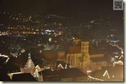 Blick hinunter zur Stadt