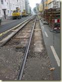 die alten Gleise sind schon ausgegraben