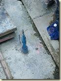 Grundwasser-Sonde in der Baugrube