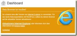 Browserhinweis bei IE9