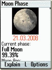 Mondphasen auf dem Handy