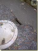 Loch im Boden, ob die Bauarbeiter hier vergessen haben fertig zu machen?