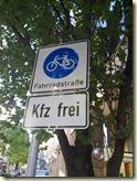 Fahrradstraße mitten in Stuttgart