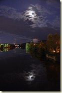 Vollmond über dem Neckar