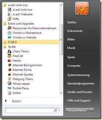 das Windows 7-Startmenü