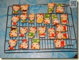 fertig glasierte Katzen-Kekse